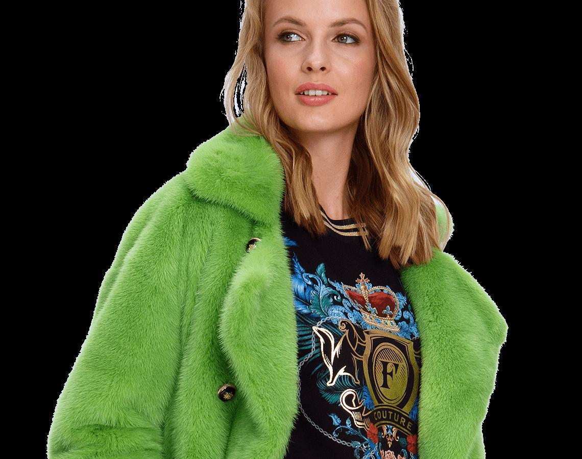 Зеленая куртка из соболя